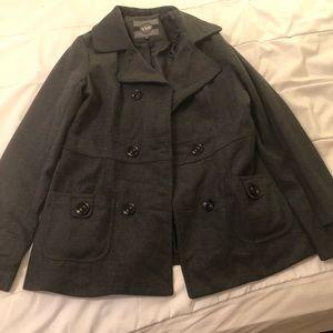 Charcoal grey pea coat